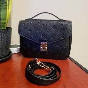NWT Top handle crossbody black leather bag